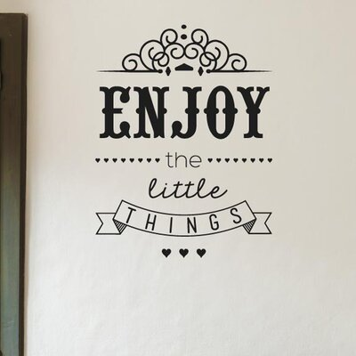 Cut It Out Wall Stickers Enjoy The Little Things Wall Sticker