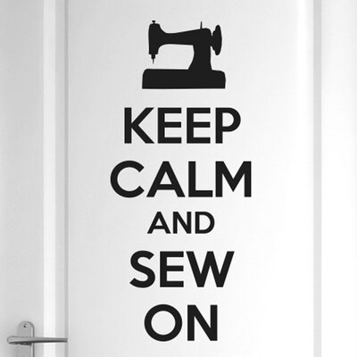 Cut It Out Wall Stickers Keep Calm and Sew on Door Room Wall Sticker