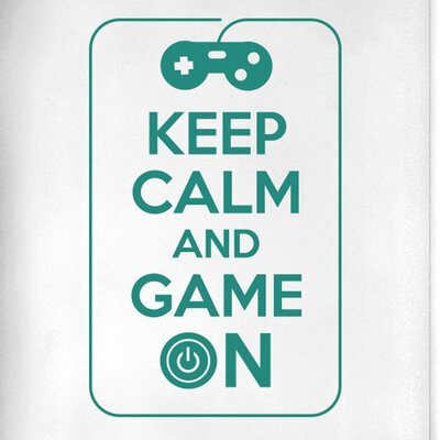 Cut It Out Wall Stickers Keep Calm and Game on Door Room Wall Sticker