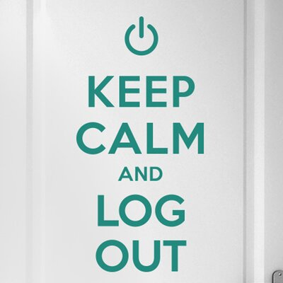 Cut It Out Wall Stickers Keep Calm and Log Out Door Room Wall Sticker