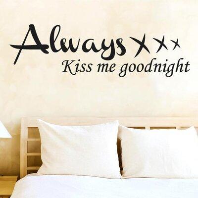 Cut It Out Wall Stickers Always Kiss Me Goodnight XXX Wall Sticker