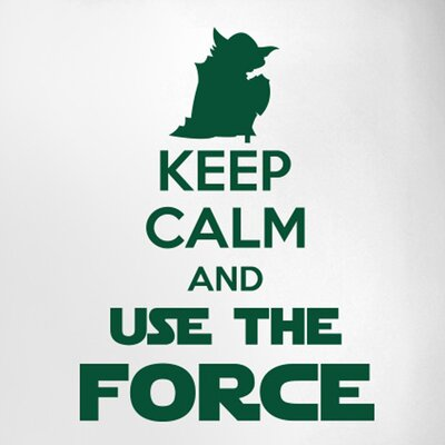 Cut It Out Wall Stickers Keep Calm and Use the Force Door Room Wall Sticker