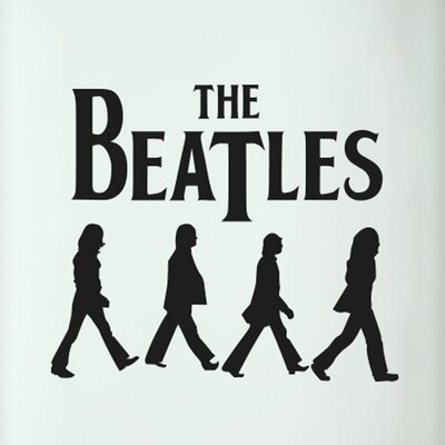 Cut It Out Wall Stickers The Beatles Walking Door Room Wall Sticker