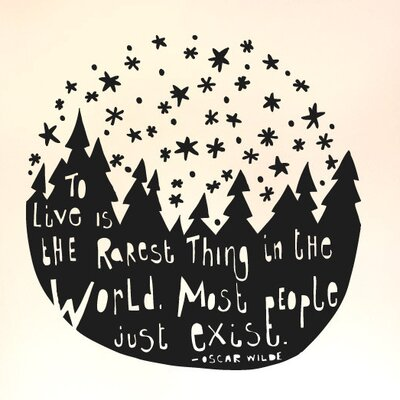 Cut It Out Wall Stickers Oscar Wilde To Live Is the Rarest Thing In the World Wall Sticker
