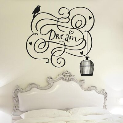 Cut It Out Wall Stickers Dream With Bird Out Of Cage Wall Sticker