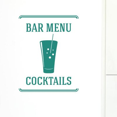 Cut It Out Wall Stickers Bar Menu Cocktails Wall Sticker
