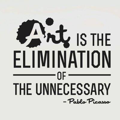 Cut It Out Wall Stickers Pablo Picasso Art Is the Elimination Of the Unnecessary Wall Sticker