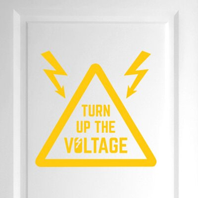 Cut It Out Wall Stickers Turn up the Voltage Door Room Wall Sticker