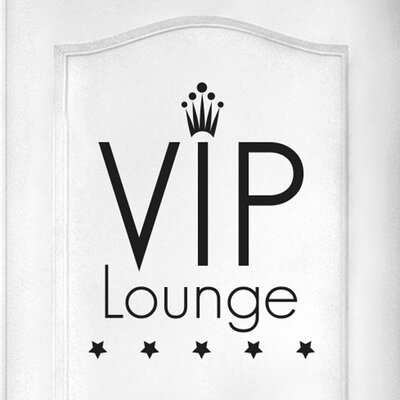 Cut It Out Wall Stickers Vip Lounge Five Star Door Room Wall Sticker