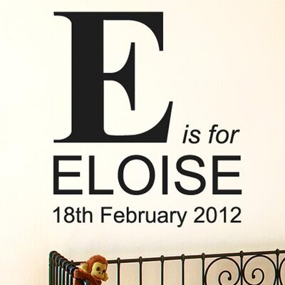 Cut It Out Wall Stickers Personalised - Large Capital Letter Name Wall Sticker
