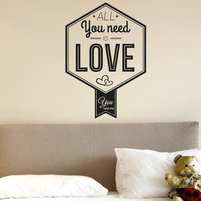 Cut It Out Wall Stickers All You Need Is Love You And Me Wall Sticker