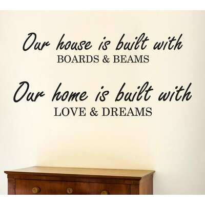 Cut It Out Wall Stickers Our House Is Built with Boards and Beams Wall Sticker