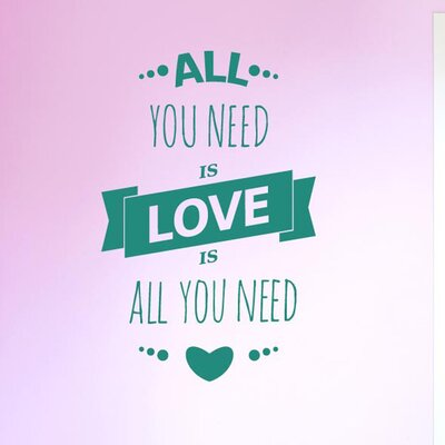 Cut It Out Wall Stickers All You Need Is Love Is All You Need Three Small Hearts Wall Sticker