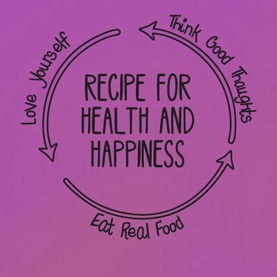 Cut It Out Wall Stickers Recipe for Health and Happiness Wall Sticker