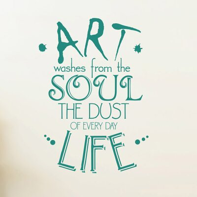 Cut It Out Wall Stickers Art Washes From The Soul The Dust Of Everyday Life Wall Sticker