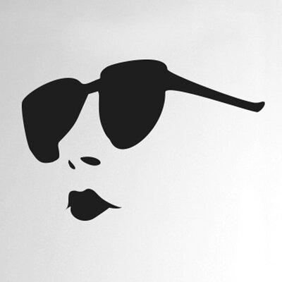 Cut It Out Wall Stickers Women Wearing Sunglasses Door Room Wall Sticker