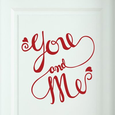 Cut It Out Wall Stickers You and Me Intertwined Door Room Wall Sticker