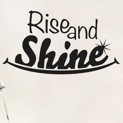 Cut It Out Wall Stickers Rise and Shine Smile Wall Sticker