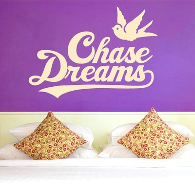Cut It Out Wall Stickers Chase Dreams With Cute Bird Wall Sticker