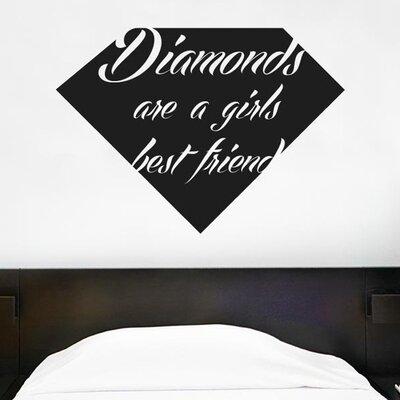 Cut It Out Wall Stickers Diamonds Are A Girls Best Friend Wall Sticker