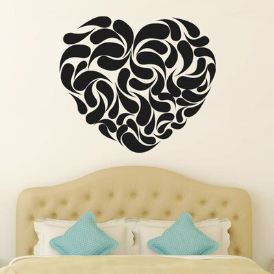 Cut It Out Wall Stickers Heart Shape Abstract Wall Sticker