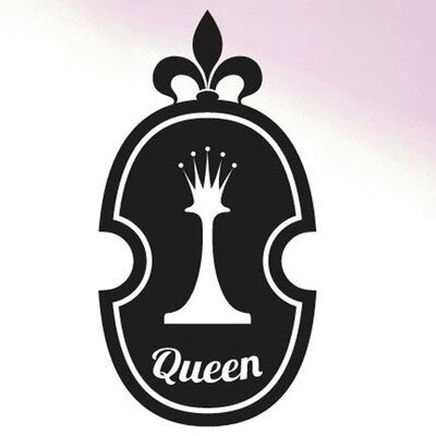 Cut It Out Wall Stickers Queen Chess Piece In Shield Wall Sticker