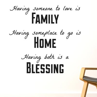 Cut It Out Wall Stickers Having Someone To Love Is Family Wall Sticker
