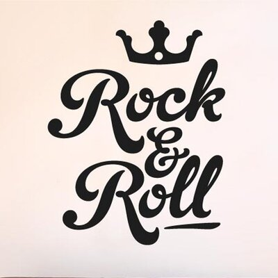 Cut It Out Wall Stickers Rock and Roll Crown Wall Sticker