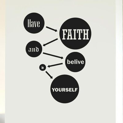 Cut It Out Wall Stickers Have Faith And Believe In Yourself Wall Sticker