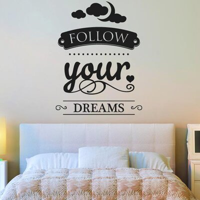 Cut It Out Wall Stickers Follow Your Dreams Wall Sticker
