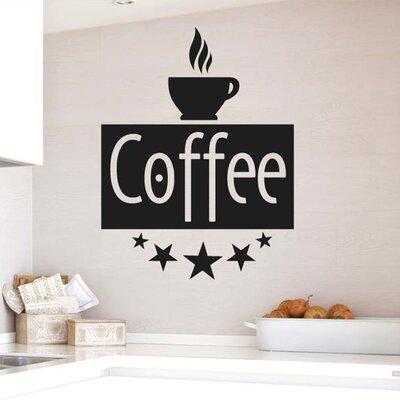 Cut It Out Wall Stickers Five Star Coffee Wall Sticker