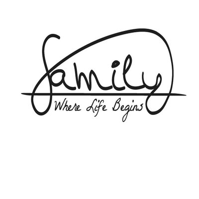 Cut It Out Wall Stickers Family Where Life Begins Wall Sticker