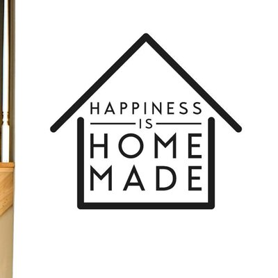 Cut It Out Wall Stickers Happiness Is Home Made Wall Sticker
