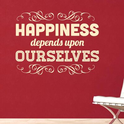 Cut It Out Wall Stickers Happiness Depends Upon Ourselves Wall Sticker