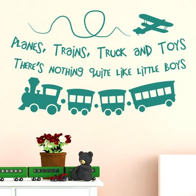 Cut It Out Wall Stickers Planes Trains Trucks And Toys Theres Nothing Quite Like Little Boys Wall Sticker