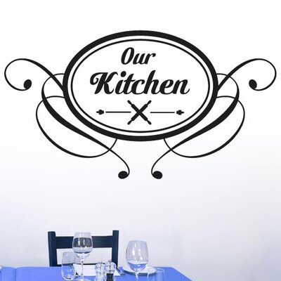 Cut It Out Wall Stickers Our Kitchen Round Vintage Sign Wall Sticker