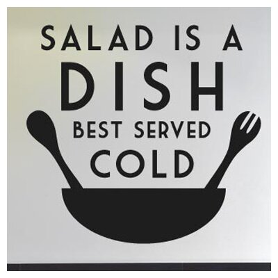 Cut It Out Wall Stickers Salad Is Dish Best Served Cold Wall Sticker