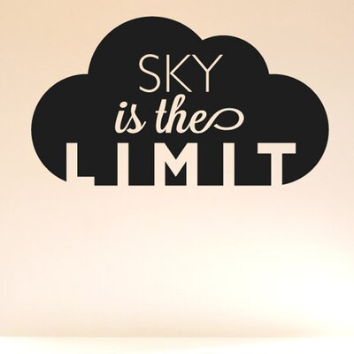 Cut It Out Wall Stickers Sky Is the Limit In The Clouds Wall Sticker