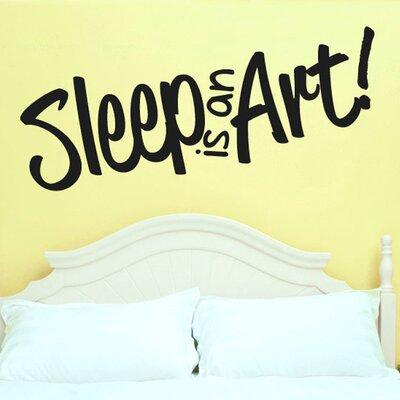 Cut It Out Wall Stickers Sleep Is an Art Wall Sticker
