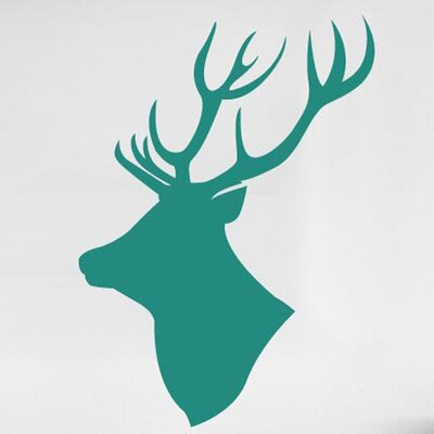 Cut It Out Wall Stickers Stag Moose Head Side Profile Wall Sticker