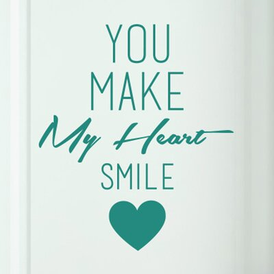 Cut It Out Wall Stickers You Make My Heart Smile Door Room Wall Sticker