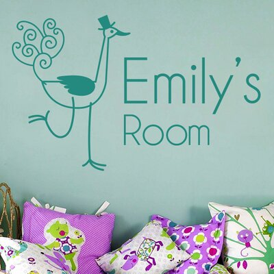 Cut It Out Wall Stickers Personalised Ostrich Kids Room Sign Wall Sticker