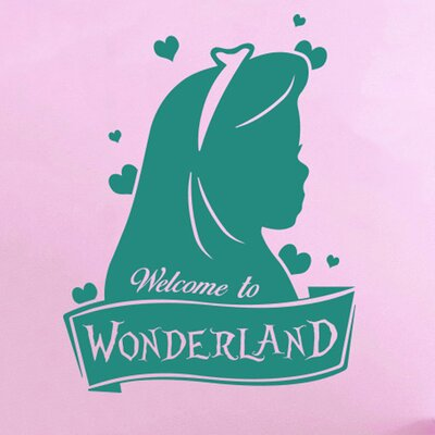 Cut It Out Wall Stickers Welcome To Wonderland Wall Sticker
