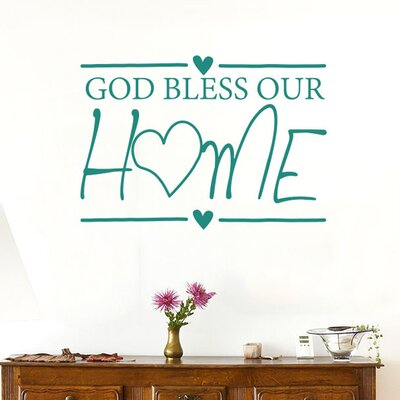 Cut It Out Wall Stickers God Bless Our Home Wall Sticker