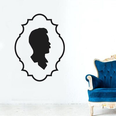Cut It Out Wall Stickers Gentleman Side Profile Framed Wall Sticker