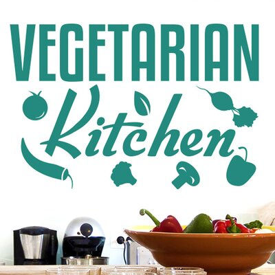 Cut It Out Wall Stickers Vegetarian Kitchen Sign Wall Sticker
