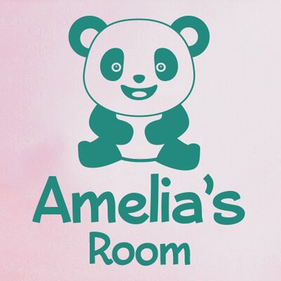 Cut It Out Wall Stickers Personalised Cute Panda Kids Room Sign Wall Sticker