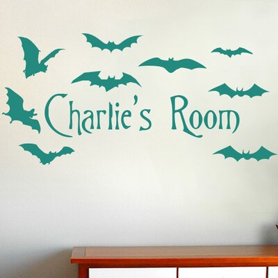 Cut It Out Wall Stickers Personalised Flying Bats Kids Room Sign Wall Sticker