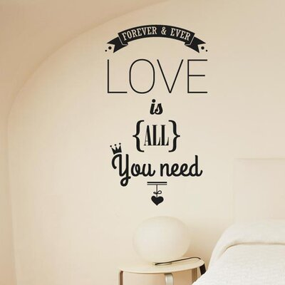 Cut It Out Wall Stickers Forever And Ever Love Is All You Need Wall Sticker