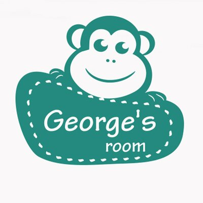 Cut It Out Wall Stickers Personalised Framed Monkey Kids Room Sign Wall Sticker